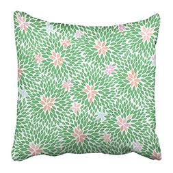 Emvency Throw Pillow Covers Print Blue Peach Colorful Flower