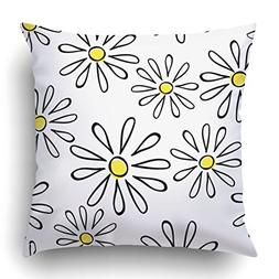 Emvency Throw Pillow Covers White Summer With Chamomile Coul