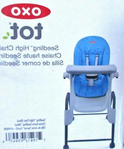 OXO Tot Seedling Dark Gray High Chair Blue