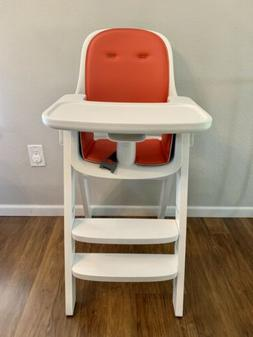 OXO Tot Sprout High Chair Orange White 6 Months To 60 Lbs