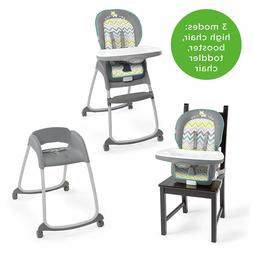 Ingenuity Trio 3-in-1 High Chair, Toddler Chair, Booster - R