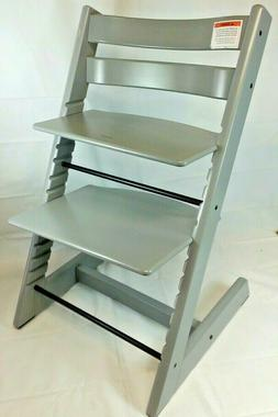 TRIPP TRAPP BY STOKKE ADJUSTABLE WOODEN STORM GREY HIGH CHAI