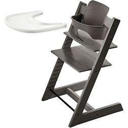 Stokke Tripp Trapp Chair With Baby Set & Tray - Hazy Grey