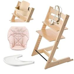 Stokke Tripp Trapp High Chair, Baby Set - Natural, White Tra