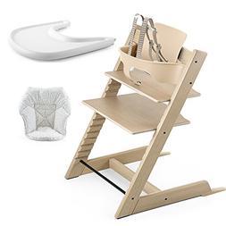 Stokke Tripp Trapp High Chair, Baby Set - Oak White Wash/Whi