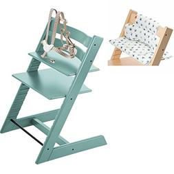 Stokke Tripp Trapp High Chair - Aqua Blue & Cushion - Aqua S