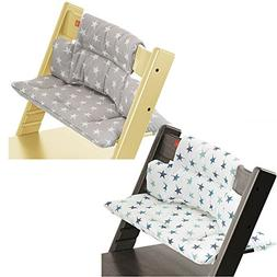 Stokke Tripp Trapp High Chair Cushion Set - Grey Star & Aqua