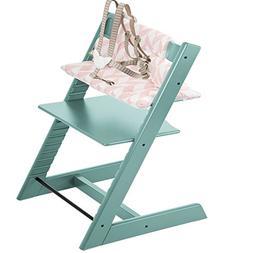 Stokke Tripp Trapp Highchair & Tripp Trapp Cushion Pink Chev