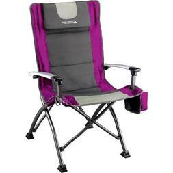 Ozark Trail Ultra High Back Folding Quad Camp Chair, Gray/Pi