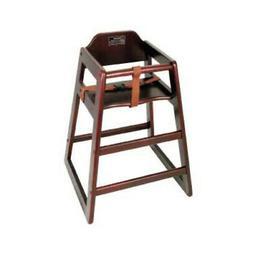 Winco Assembled Mahogany High Chair Single