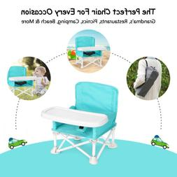 Baby Booster Seat w/ Tray for Baby Folding High Chair for Ea
