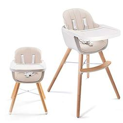 Asunflower Wood High Chair Toddlers 3 in 1 Convertible Moder