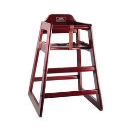 Winco Wood High Chair, Mahogany   A4189V