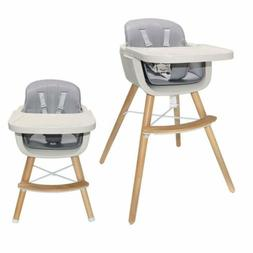 Wooden Baby High Chair Convertible Table Seat Booster Toddle
