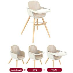 wooden baby high chair convertible table seat