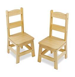 Melissa & Doug Wooden Chairs, Set of 2