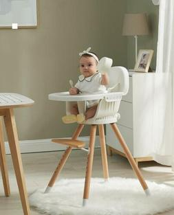 Wooden High Chair For Baby/Infant Highchair Wood Feeding W/